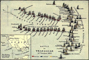 Battle of Trafalgar map